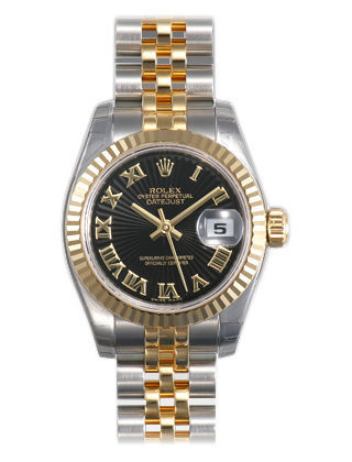 Rolex Datejust 26   Women's Watch 179173-BKSRJ