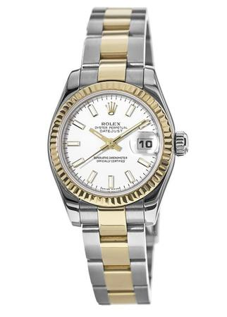 Rolex Datejust 26  Two Tone White Dial Women's Watch 179173-WHSO-PO