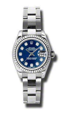 Rolex Datejust 26   Women's Watch 179174-BLDO