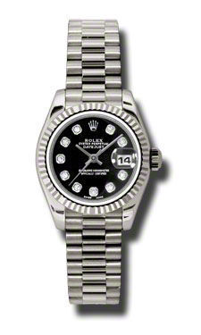 Rolex Datejust 26   Women's Watch 179179-BKDJ