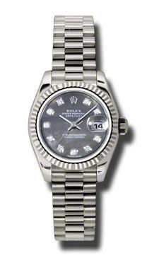 Rolex Datejust 26   Women's Watch 179179-BKMOPDP