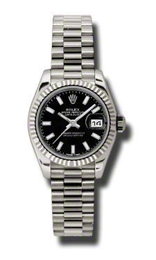 Rolex Datejust 26   Women's Watch 179179-BKSJ