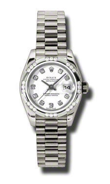 Rolex Datejust 26   Women's Watch 179369-WHDP