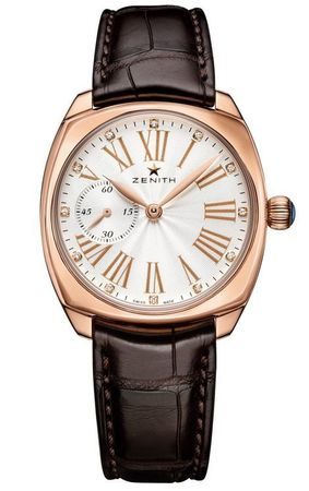 Zenith Heritage Star 33mm Silver Diamond Dial 18K Rose Gold Women's Watch 18.1970.681/01.C725
