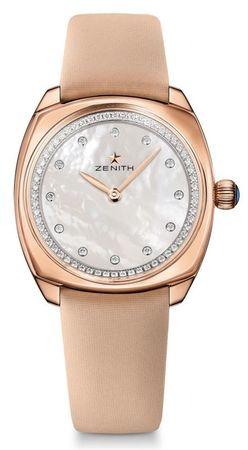 Zenith Star  Mother of Pearl Diamond Dial 18K Rose Gold Women's Watch 18.1971.681/80.C732