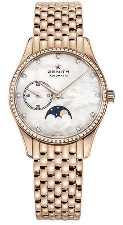 Zenith Heritage Lady Ultra Thin Moon Phase Mother of Pearl Diamond Dial Women's Watch 22.2310.692/81.M2310