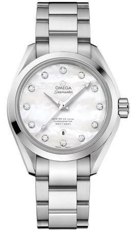 Omega Seamaster Aqua Terra Automatic Chronometer 34mm  Women's Watch 231.10.34.20.55.002