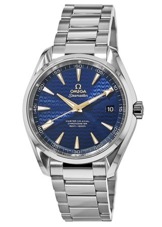 Omega Seamaster Aqua Terra 150m Master Co-Axial Blue Dial Stainless Steel Men's Watch 231.10.42.21.03.006
