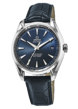 Omega Seamaster Aqua Terra 150m Master Co-Axial Blue Dial Leather Strap Men's Watch 231.13.42.21.03.001