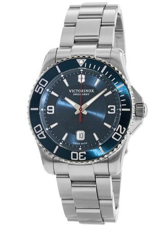 Victorinox Swiss Army Maverick  Mechanical Blue Dial Stainless Steel Men's Watch 241706