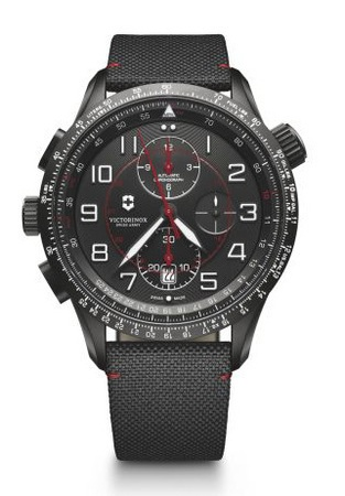Victorinox Swiss Army Airboss  MACH 9 Black Dial Men's Watch 241716