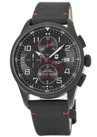 Victorinox Swiss Army Airboss  Mechanical Chronograph Black Edition Men's Watch 241721