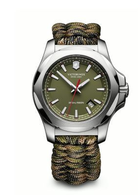 Victorinox Swiss Army I.N.O.X. Paracord  Green Dial Green Fabric Strap Men's Watch 241727