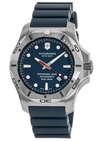 Victorinox Swiss Army I.N.O.X. Professional Diver  Blue Dial Rubber Strap Men's Watch 241734