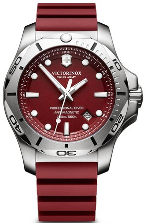 Victorinox Swiss Army I.N.O.X. Professional Diver  Red Dial Men's Watch 241736