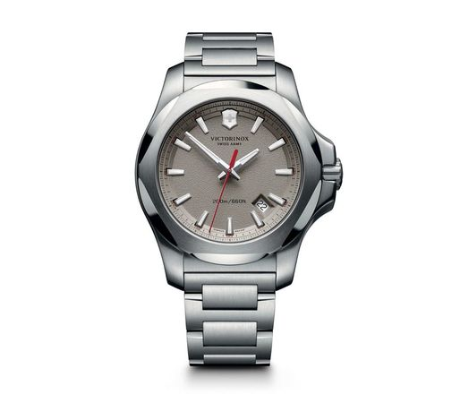 Victorinox Swiss Army I.N.O.X.  Grey Dial Stainless Steel Men's Watch 241739