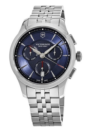 Victorinox Swiss Army Alliance  Blue Chronograph Dial Stainless Steel Men's Watch 241746