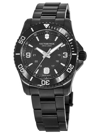 Victorinox Swiss Army Maverick Large Black Dial Black PVD Men's Watch 241798