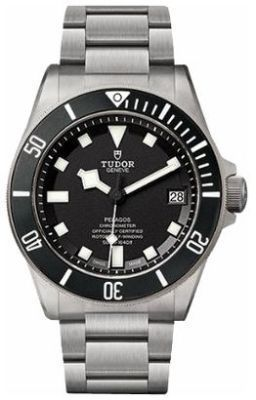 Tudor Pelagos  Black Dial Titanium Men's Watch 25600TN-0001