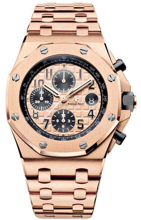 Audemars Piguet Royal Oak Offshore  42mm 18kt Rose Gold Men's Watch 26470OR.OO.1000OR.01