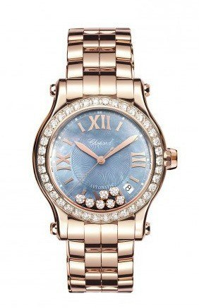 Chopard Happy Sport Medium Automatic 36mm USA Limited Edition Rose Gold And Diamonds Women's Watch 274808-5010