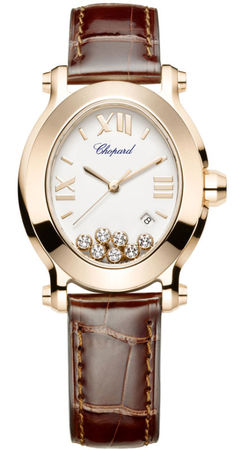 Chopard Happy Sport Oval 7 Floating Diamonds  Women's Watch 275350-5001