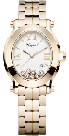 Chopard Happy Sport Oval 7 Floating Diamonds  Women's Watch 275350-5002