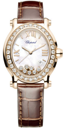 Chopard Happy Sport Oval 7 Floating Diamonds  Women's Watch 275350-5003