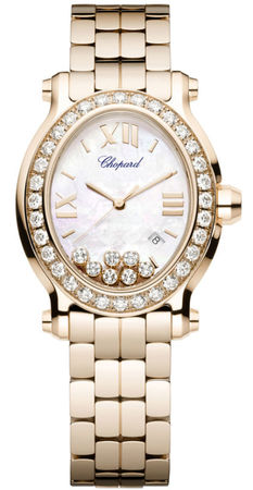 Chopard Happy Sport Oval 7 Floating Diamonds  Women's Watch 275350-5004
