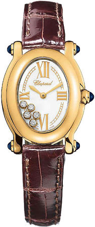 Chopard Happy Sport Oval 5 Floating Diamonds  Women's Watch 277465-0005