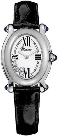 Chopard Happy Sport Oval 5 Floating Diamonds  Women's Watch 277465-1005