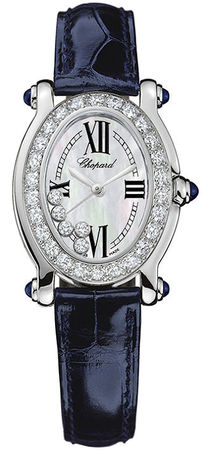 Chopard Happy Sport Oval 5 Floating Diamonds  Women's Watch 277465-1006