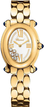 Chopard Happy Sport Oval 5 Floating Diamonds  Women's Watch 277466-0002