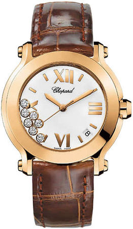 Chopard Happy Sport Medium 36mm  Women's Watch 277471-5001-brown