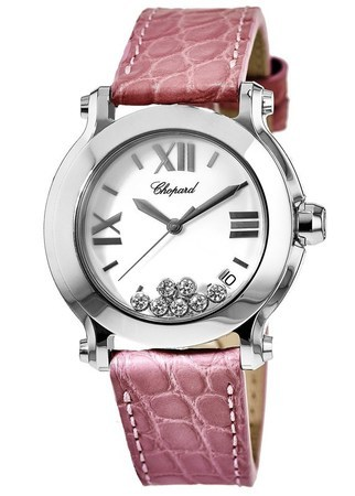 Chopard Happy Sport Medium 36mm  Women's Watch 278475-3001-pink