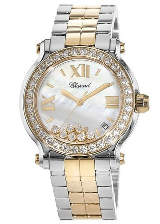 Chopard Happy Sport Medium 36mm 18K Rose Gold & Stainless Steel Diamond Women's Watch 278488-6001