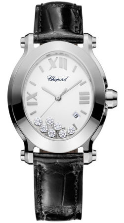 Chopard Happy Sport Oval 7 Floating Diamonds  Women's Watch 278546-3001