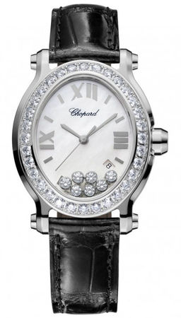 Chopard Happy Sport Oval 7 Floating Diamonds  Women's Watch 278546-3002