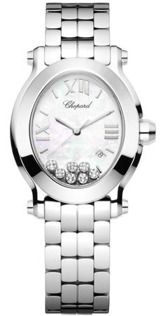 Chopard Happy Sport Oval 7 Floating Diamonds  Women's Watch 278546-3003