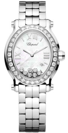 Chopard Happy Sport Oval 7 Floating Diamonds  Women's Watch 278546-3004