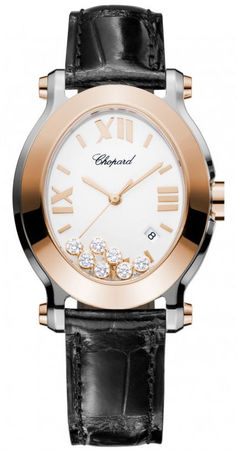 Chopard Happy Sport Oval 7 Floating Diamonds  Women's Watch 278546-6001