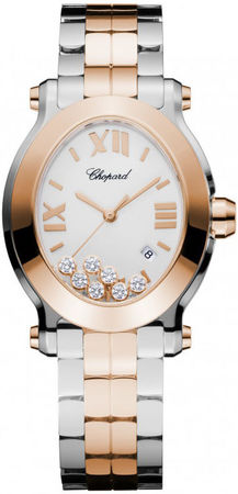 Chopard Happy Sport Oval 7 Floating Diamonds  Women's Watch 278546-6003