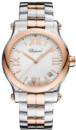 Chopard Happy Sport Medium 36mm Rose Gold Women's Watch 278582-6002