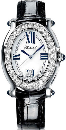 Chopard Happy Sport Oval 7 Floating Diamonds  Women's Watch 278952-2004