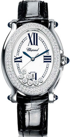 Chopard Happy Sport Oval 7 Floating Diamonds  Women's Watch 278953-2007