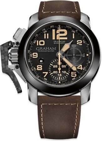 Graham Chronofighter Steel Brown Leather Men's Watch 2CCAC.B02A.L134S