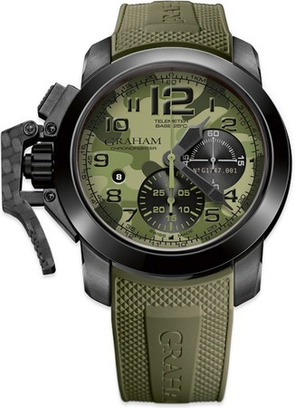 Graham Chronofighter Black Arrow Green Men's Watch 2CCAU.G02A