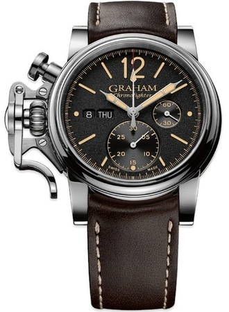 Graham Chronofighter Vintage Brown Leather Men's Watch 2CVAS.B01A