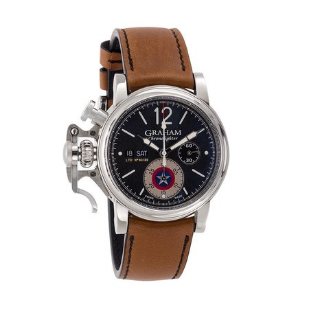 Graham Chronofighter Vintage Captain America Limited Edition Men's Watch 2CVAS.B14A.L128S