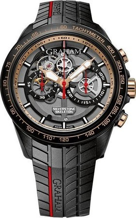 Graham Silverstone RS Skeleton GT Asia Limited Edition Rose Gold Men's Watch 2STAZ.B02B.K89H